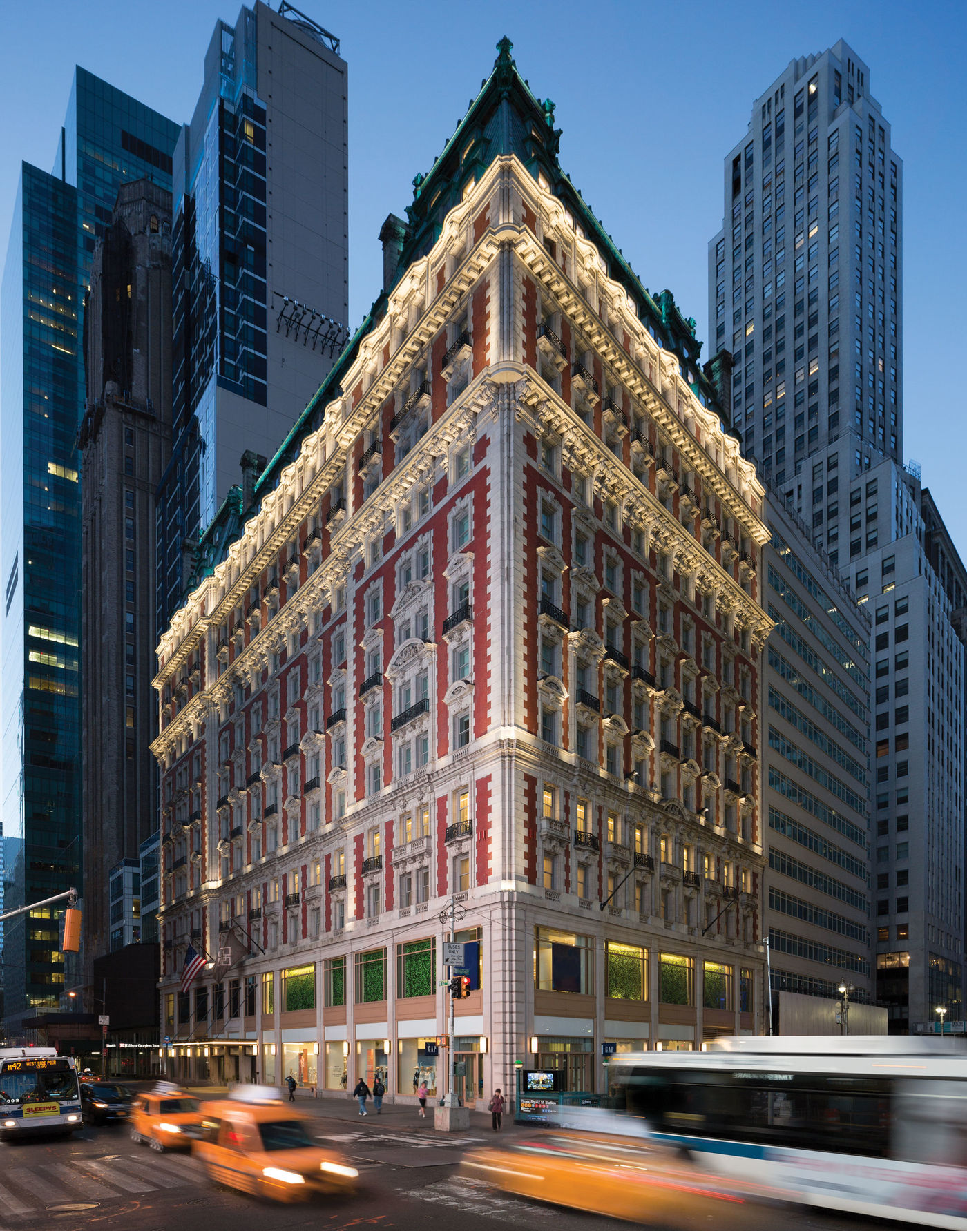 The Knickerbocker Hotel axonometric exterior view